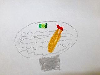 小学生が描いたソバの絵