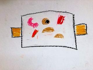 小学生が描いたシーフードグラタンの絵