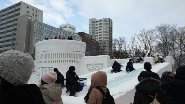 さっぽろ雪まつり雪像滑り台